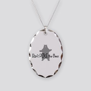 Don't Poke The Bear Necklace Oval Charm